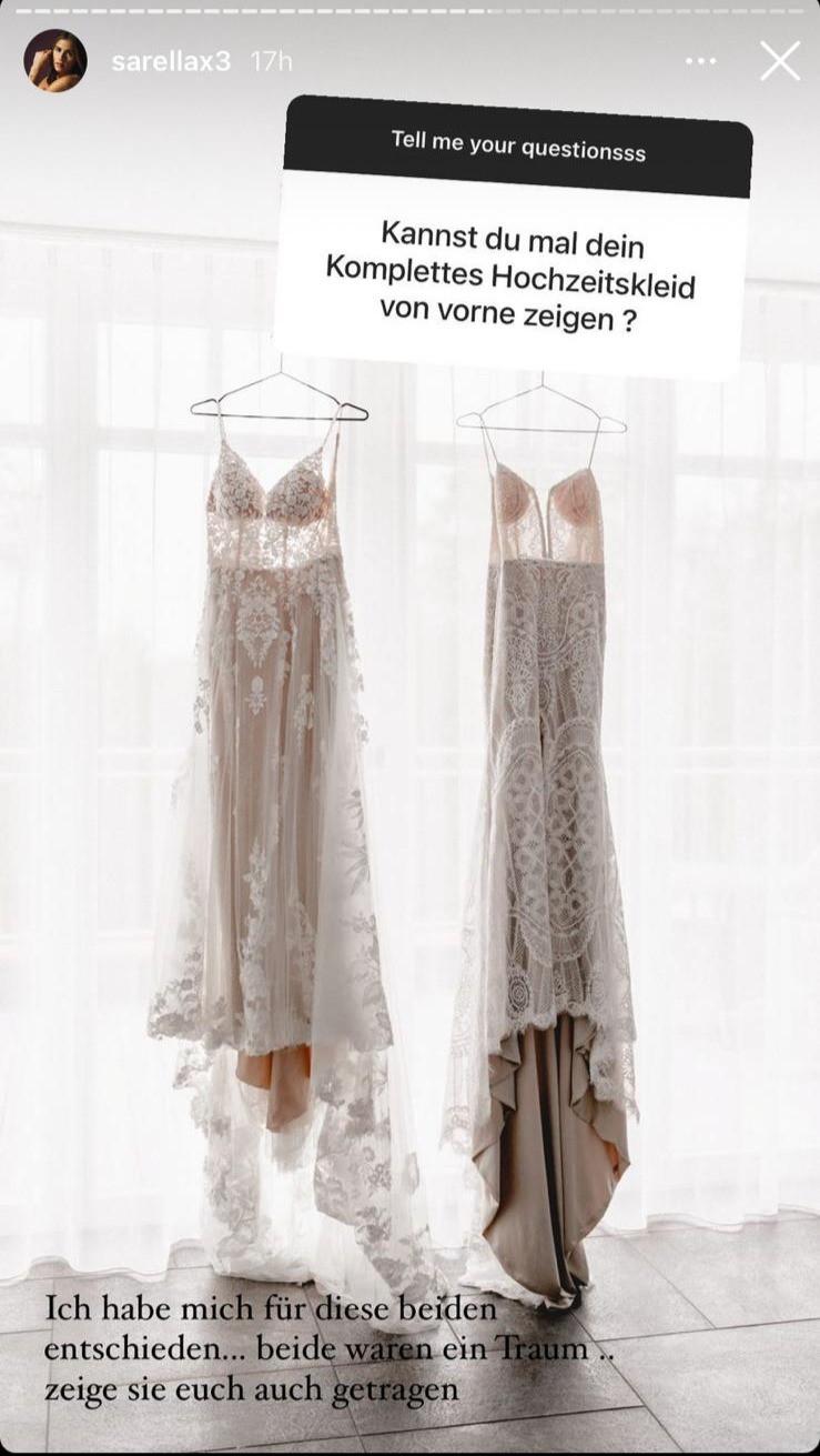Sarah Engels postete ihre beiden Brautkleider auf Instagram