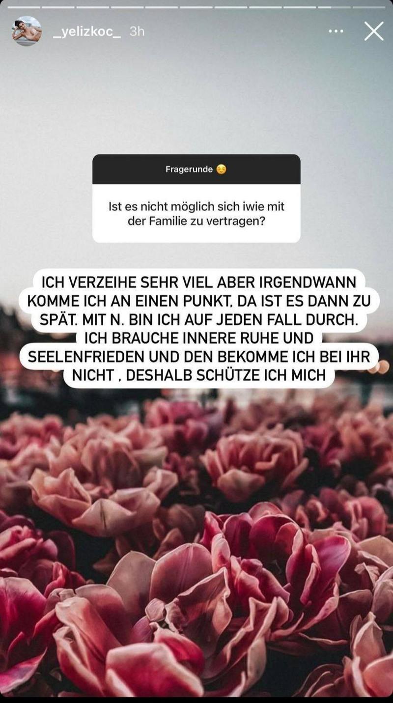 In einem weiteren Post schreibt Yeliz, dass sie mit der Familie und mit Natascha Ochsenknecht durch sei